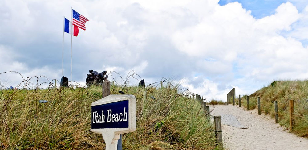Utah Beach in Normandie